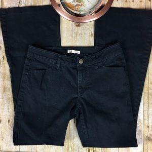 CAbi Black Denim Super Flare Jean
